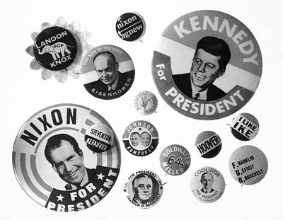 Lyndon Photograph - Campaign Buttons by Granger