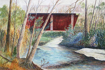 Covered Bridge Painting - Campbell's Bridge by Ben Kiger