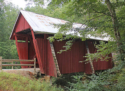 Photograph - Campbell's Covered Bridge by Joseph C Hinson Photography