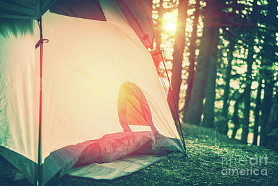 Photograph - Camping In The Forest by Anna Om