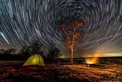 Photograph - Camping Under The Stars by Willard Sharp