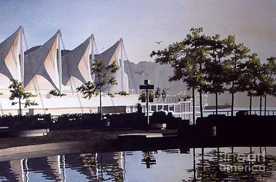 Painting - Canada Place by Frank Townsley