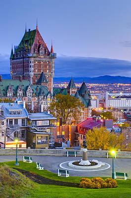 Park Benches Photograph - Canada, Quebec City by Alan Copson