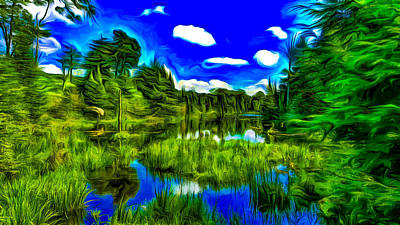 Gatineau Park Digital Art - Canadian Lake by Jean-Marc Lacombe