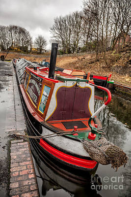 Canal Boat Art Print by Adrian Evans