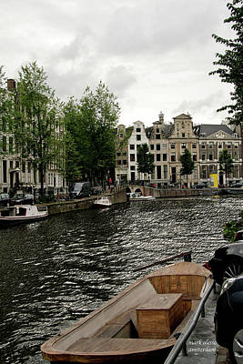Photograph - Canal Boat by Mark Alesse