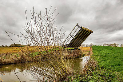 Clouds Rights Managed Images - Canal Bridge Royalty-Free Image by Ed James