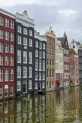 Photograph - Canal Houses In Amsterdam by Patricia Hofmeester