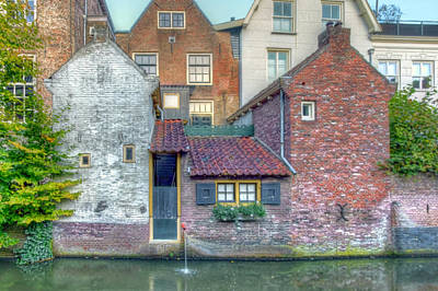 Photograph - Canal Houses by Nadia Sanowar