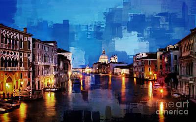 Canal View Of Venice City Original