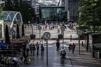 Traveller Photograph - Canary Wharf by Martin Newman