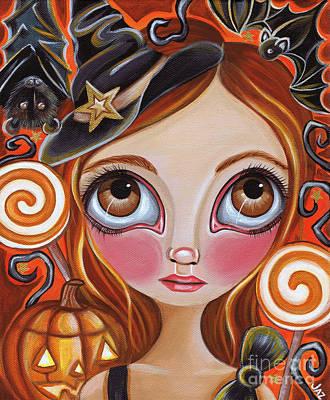 Pop Surrealism Painting - Cancer - Zodiac Mermaid by Jaz Higgins