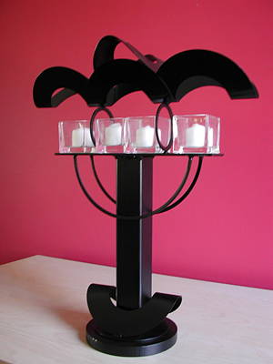 Sculpture - Candle Holder Model 10 by John Gibbs
