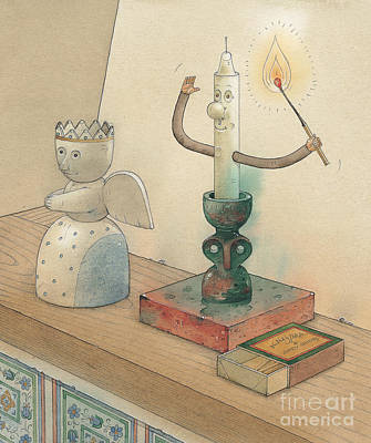 Candle Drawing - Candle by Kestutis Kasparavicius