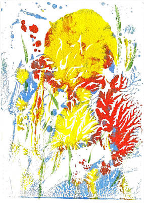 Painting - Canna Lilies 1 by Asha Sudhaker Shenoy