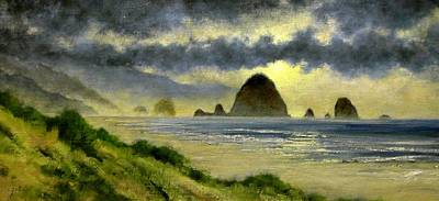 Lakes Wall Art - Painting - Cannon Beach by Jim Gola