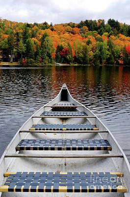 Algonquin Park Northern Ontario Canada Photograph - Canoe On A Lake by Oleksiy Maksymenko