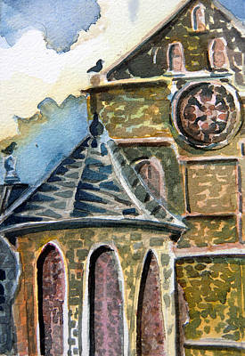 Cantebury Cathedral Original by Mindy Newman