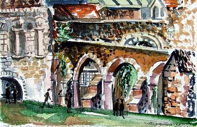 Canterbury England Cloisters Art Print by Mindy Newman