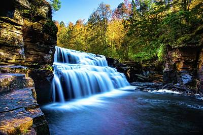 White Sturgeon Painting - Canyon Falls by Michael Tucker