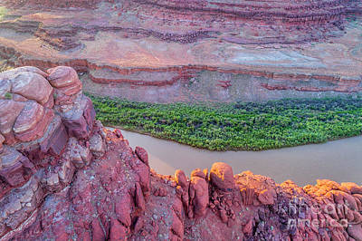 Photograph - Canyon Of Colorado River - Sunrise Aerial View by Marek Uliasz