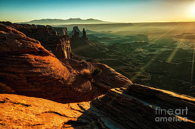 Photograph - Canyon Sunbeams by Kristal Kraft