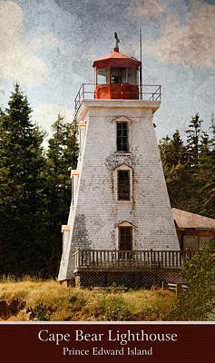 Photograph - Cape Bear Lighthouse 2 by WB Johnston