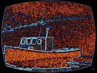 Trawler Digital Art - Cape Breton Fishing Boat by Will Borden