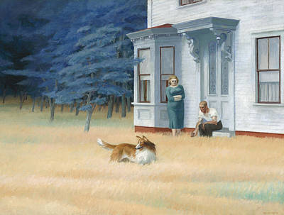 The Dog House Painting - Cape Cod Evening by Edward Hopper