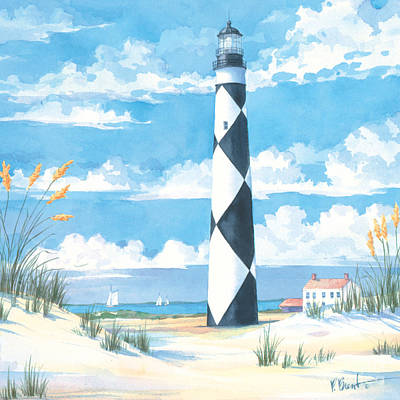 Lookout Painting - Cape Lookout by Paul Brent
