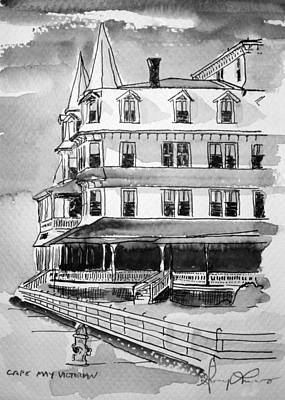 Cape May Victorian B-w Art Print by George Lucas