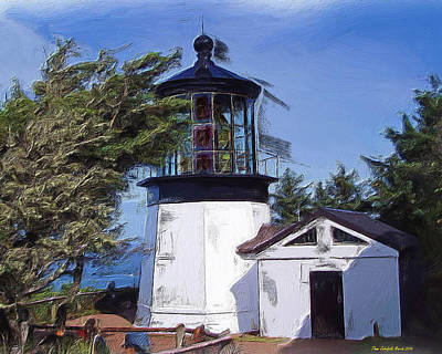 Photograph - Cape Meares Lighthouse by Thom Zehrfeld