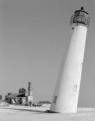 Cape Florida Lighthouse Painting - Cape St. George Lighthouse Florida Print One by Pd