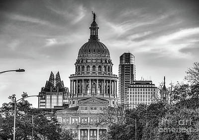 Capital Of Texas  Print by Tod and Cynthia Grubbs