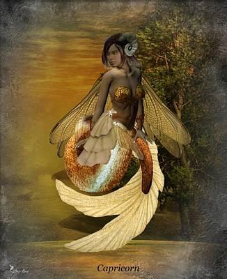 Digital Art - Zodiac Capricorn by Ali Oppy
