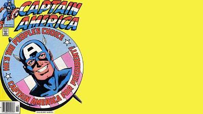 Reformer Digital Art - Captain America by Dorothy Binder