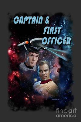 Shatner Digital Art - Captain And First Officer by Joseph Juvenal