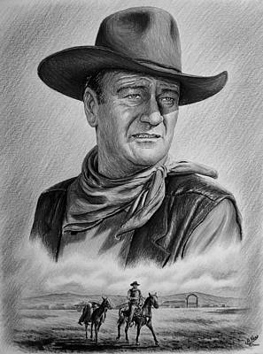 John Wayne Drawing - Captured  by Andrew Read