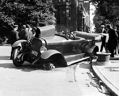 Qed Photograph - Car Accident, C1919 by Granger