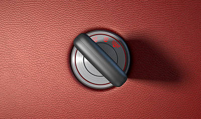 Car Key In Ignition Art Print by Allan Swart
