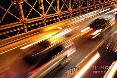 Frank Sinatra - Car traffic on Brooklyn Bridge in New York - USA by Samuel Borges