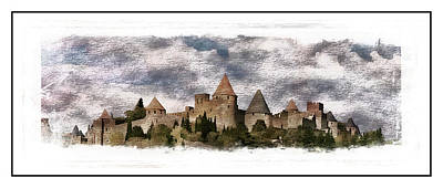 Contemporary Art Photograph - Carcassonne by Contemporary Art
