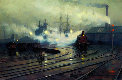 Wet On Wet Painting - Cardiff Docks by Mountain Dreams