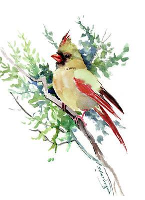Painting - Cardinal Bird by Suren Nersisyan