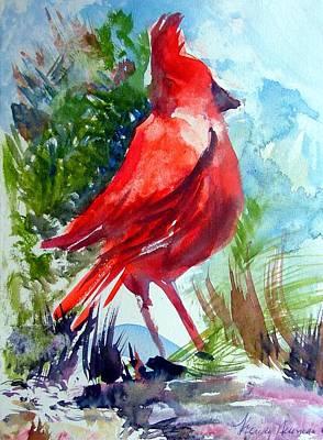 Cardinal Drawing - Cardinal by Mindy Newman