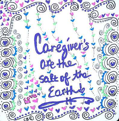 Drawing - Caregiver Love by Carole Brecht