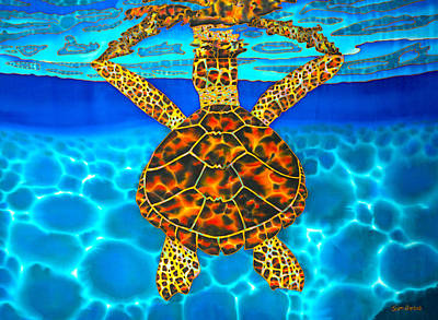 Painting - Caribbean Hawksbill Sea Turtle by Daniel Jean-Baptiste