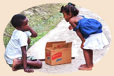 Photograph - Caribbean Kids Illustration by Tatiana Travelways