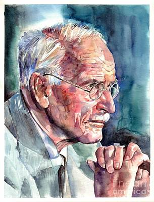 Death Painting - Carl Gustav Jung Portrait by Suzann's Art