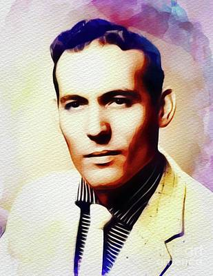 Rock And Roll Royalty-Free and Rights-Managed Images - Carl Perkins, Music Legend by John Springfield